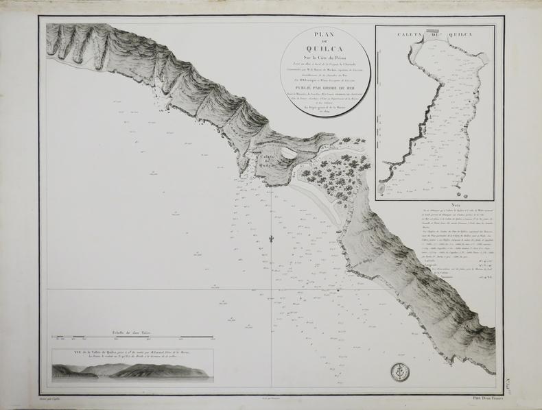 [PÉROU] Plan de Quilca sur la côte du Pérou.. DÉPÔT GÉNÉRAL DE LA MARINE.