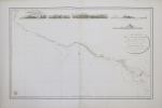 [MEXIQUE] Carte réduite de la côte du Mexique sur la mer du Sud depuis le golfe Dulce jusqu'au cap Corrientes.. DÉPÔT GÉNÉRAL DE LA MARINE.