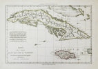 [CUBA/JAMAÏQUE] Carte des isles de Cuba et de la Jamaïque.. BONNE (Rigobert).