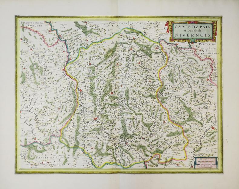 [NIVERNAIS] Carte du païs et duché de Nivernois.. JANSSON (Joannes).