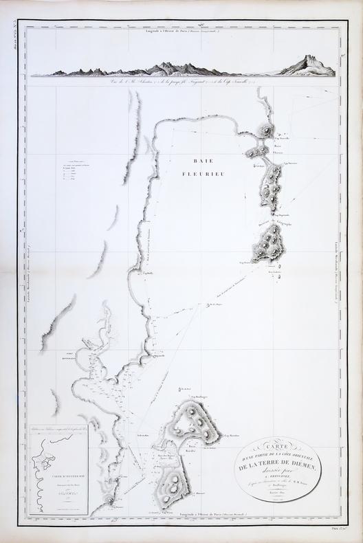 [TASMANIE] Carte d'une partie de la côte orientale de la Terre de Diémen.. FREYCINET (Louis-Claude Desaulses de).