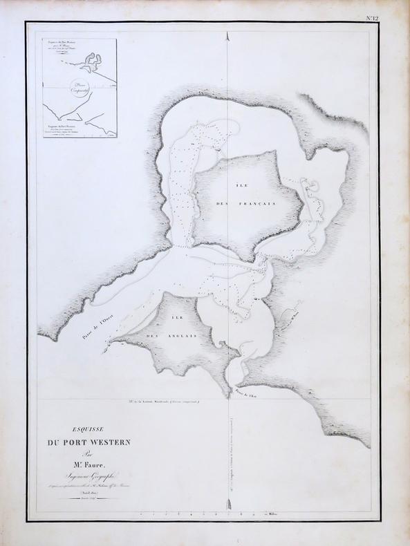 [AUSTRALIE/WESTERN PORT] Esquisse du Port Western par M. Faure.. FREYCINET (Louis-Claude Desaulses de).