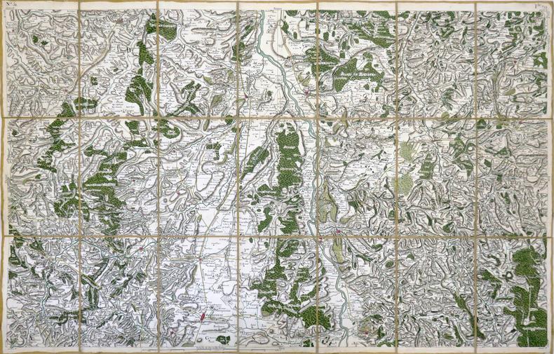 [GANNAT] Carte de Cassini. Feuille n°79/51.. CASSINI de THURY (César-François).