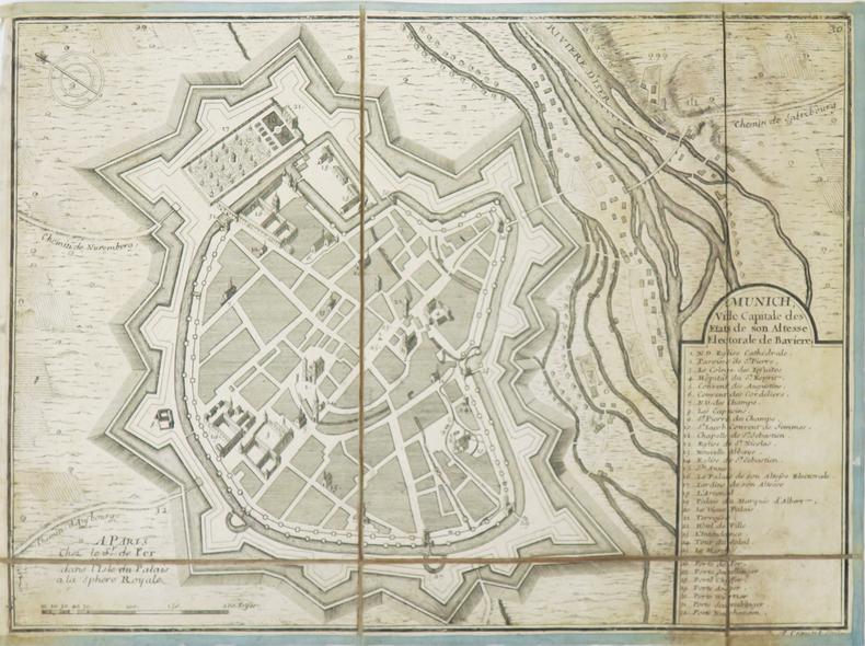 Münich, ville capitale des états de Son Altesse électorale de Bavière.. FER (Nicolas de).
