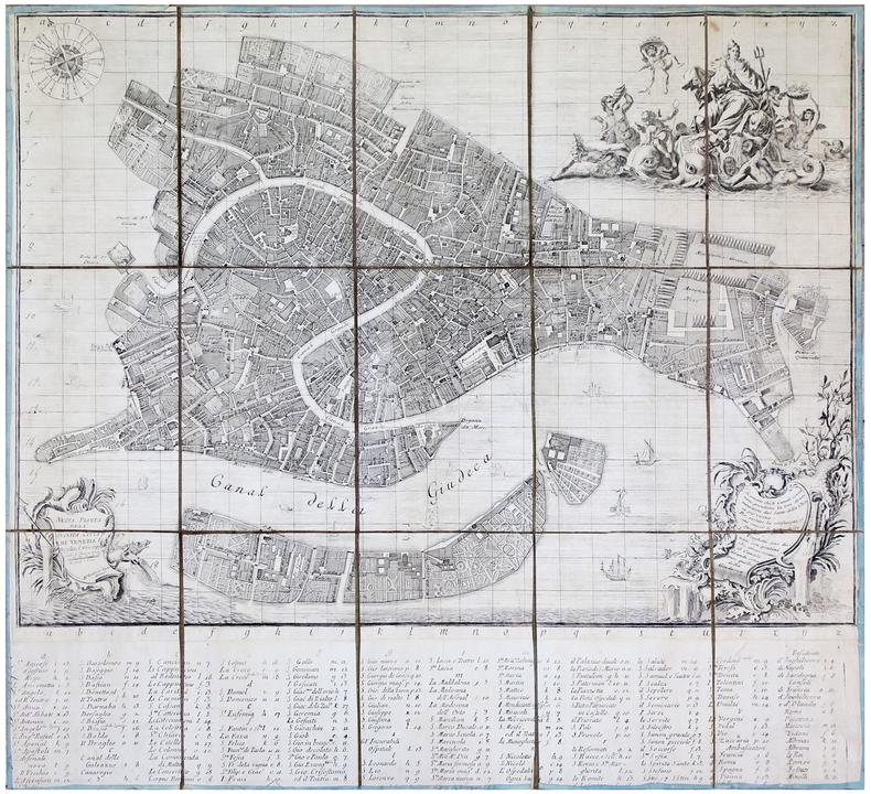 [VENISE] Nuova pianta dell'inclita città di Venezia regolata l'anno 1797.. UGHI (Lodovico).