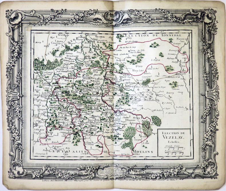 [VÉZELAY] Élection de Vézelay.. DESNOS (Louis-Charles).