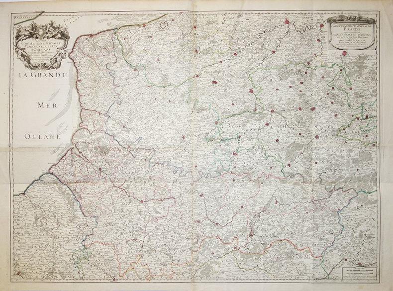 Gouvernement général de Picardie qui comprend la généralité d'Amiens divisée en ses huit élections.. JAILLOT (Bernard Jean Hyacinthe).