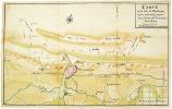Carte de la côte de Dunkerque depuis Mardick jusques aux limites des Territoires Autrichiens.. DUNKERQUE. MANUSCRIT.