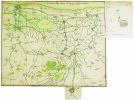 Carte du pays depuis Dunkerque jusqua Nieuport.. DUNKERQUE. MANUSCRIT.