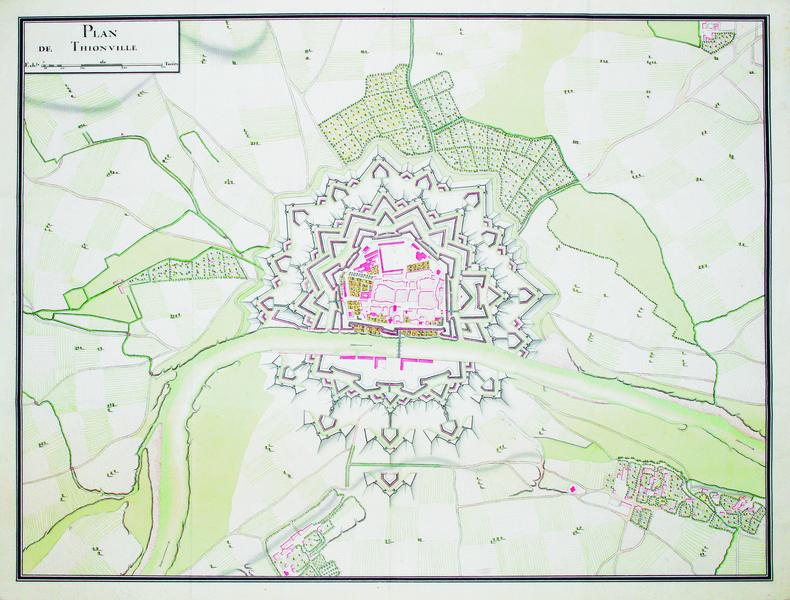 Plan de Thionville.. THIONVILLE. MANUSCRIT.