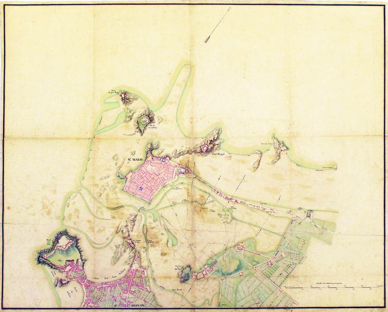 [Plan de Saint-Malo et de Saint-Servan]. . SAINT-MALO. MANUSCRIT.
