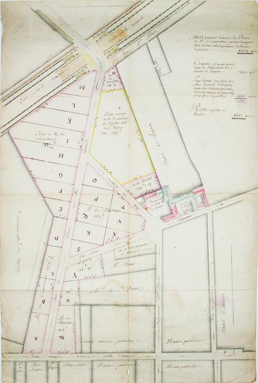 [Plan d'aménagement de la rue Louis-le-Grand]. . LOUIS-LE-GRAND (rue). MANUSCRIT.