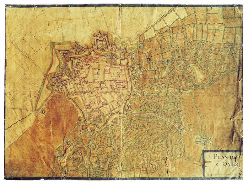 Plan de S.t Omer.. SAINT-OMER. MANUSCRIT.