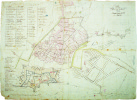 Pianta della città e fortezza di Savona.. SAVONE. MANUSCRIT.