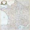 Carte de France divisée en 86 départements formant la nouv. division de la Rép.e décrétée par l'Assemblée Nation.le & sanction. en 1792.. DESNOS ...