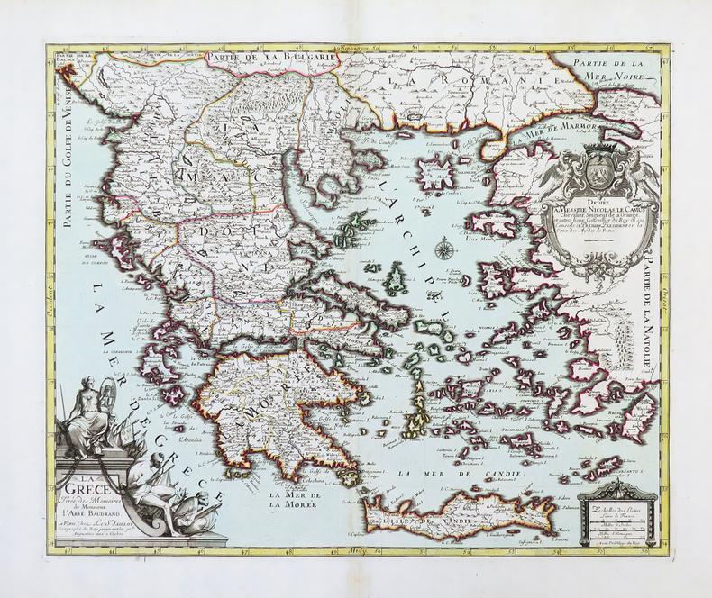 La Grèce tirée des Mémoires de Monsieur l'abbé Baudrand.. BAUDRAND (Michel Antoine).