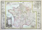 La France divisée en ses principaux gouvernements avec toutes les routes de ce royaume.. DESNOS (Louis-Charles).