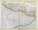 Les frontières de France et d'Espagne tant deça que de là les Monts Pirénées.. DESNOS (Louis-Charles) & FER (Nicolas de).