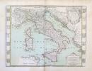 L'Italie divisée en ses estats reveue corrigée et augmentée notament des postes et grandes routes.. DESNOS (Louis-Charles) & FER (Nicolas de).