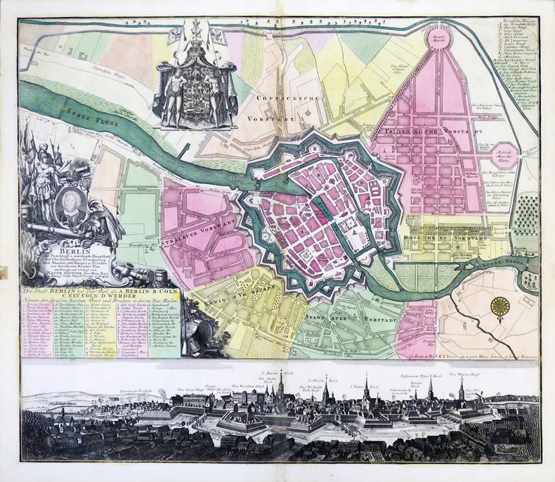 [BERLIN] Berlin, die præchtigst. u. mæchtigste Hauptstatt des Churfürstenthums Brandenburg.. SEUTTER (Matthaeus).