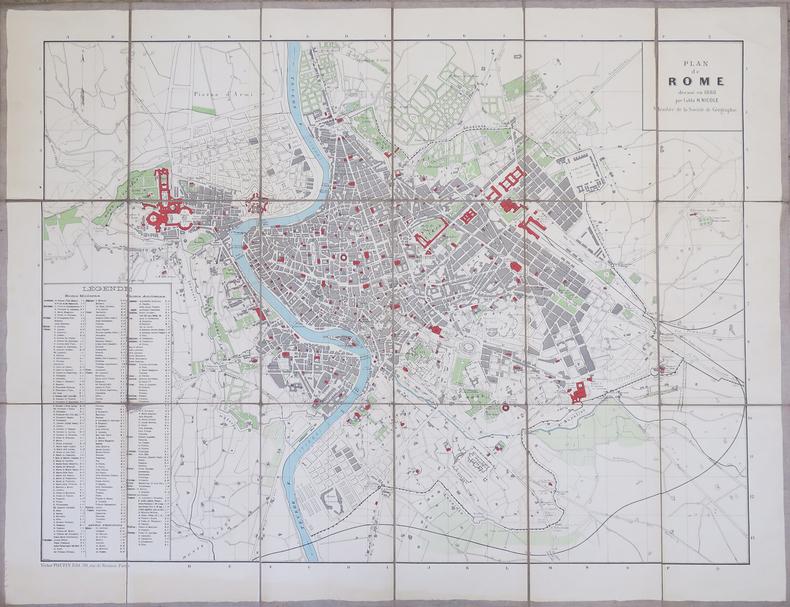 [ROME] Plan de Rome dressé en 1888.. NICOLE (H., abbé).