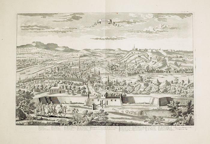 Lyon, ville capitale de la province et du gouvernem.t général du Lyonois.. CHÉREAU (Jacques);
