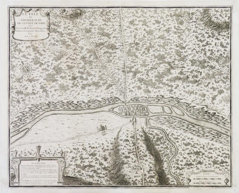 Lutèce ou premier plan de la ville de Paris.. FER (Nicolas de).