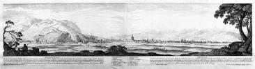 [GRENOBLE] Gratianopolis – Grenoble. Dessignée par I. Silvestre, et gravée par N. Perelle. Avec privilège du roy. A Paris chez Pierre Mariette, rue S. ...