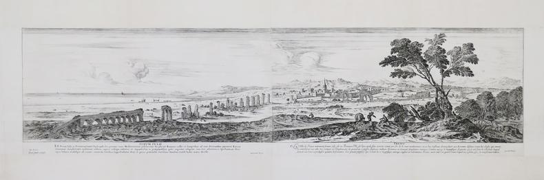 [FRÉJUS] Forum Iulii – Frejus. De Lincler. Israel Silvestre sculpsit. Cum privil. Regis. excudit Parisiis.. SILVESTRE (Israël).