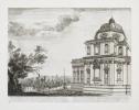 [ROME] Chapelle bastie à Ste Marie Major à Rome par Paul Vme très-superbement comme il se voit par l'extérieur. Goyran sculp. . SILVESTRE (Israël).