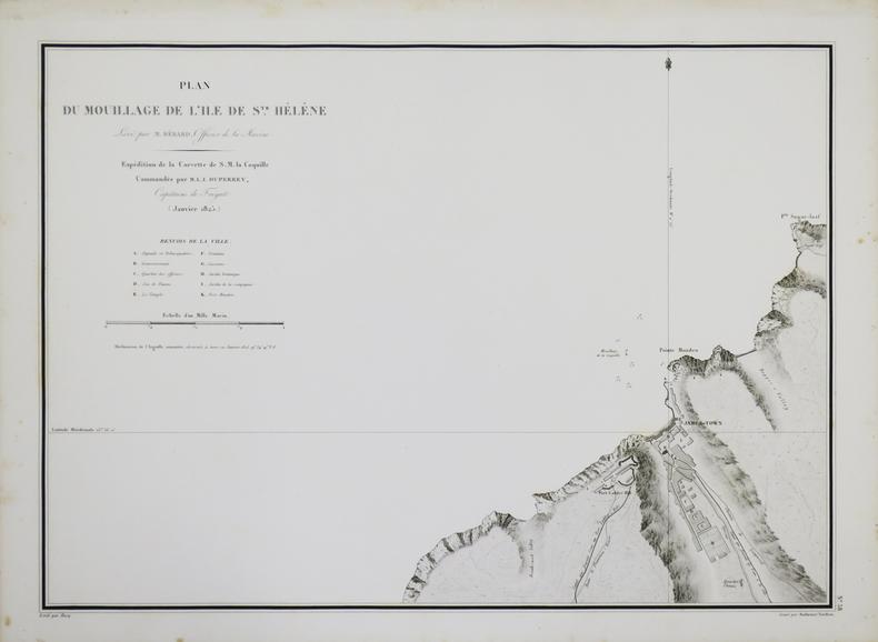[ÎLE de SAINTE-HÉLÈNE] Plan du mouillage de l'île de Ste. Hélène.. DUPERREY (Louis-Isidore).