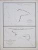 [KIRIBATI/MICRONÉSIE] Carte de l'île Hall (archipel des îles Gilbert) - Carte des îles Woodle et Henderville (archipel des îles Gilbert).. DUPERREY ...