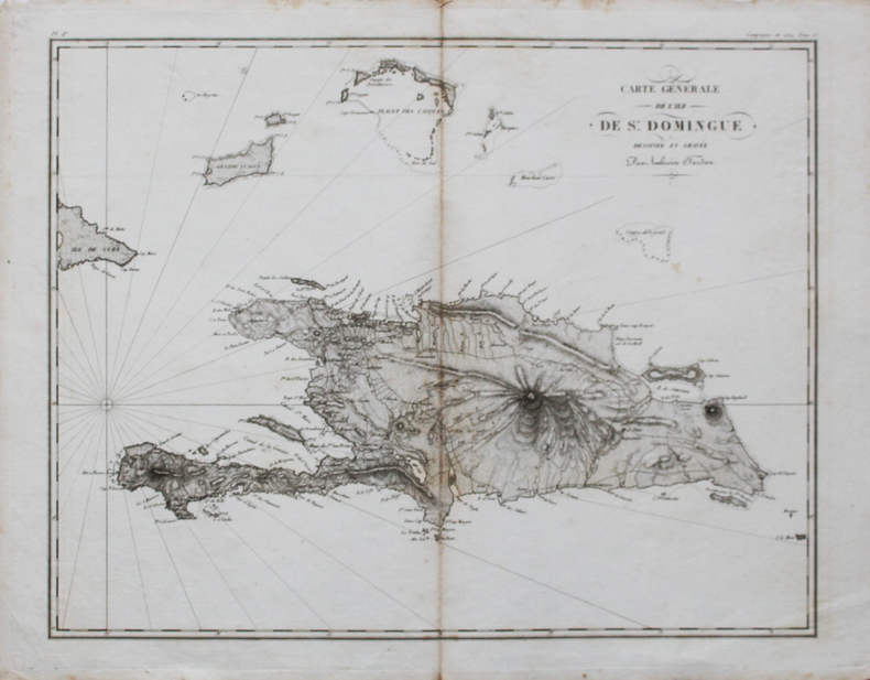 [SAINT-DOMINGUE] Carte générale de l'île de St. Domingue.. TARDIEU (Ambroise).