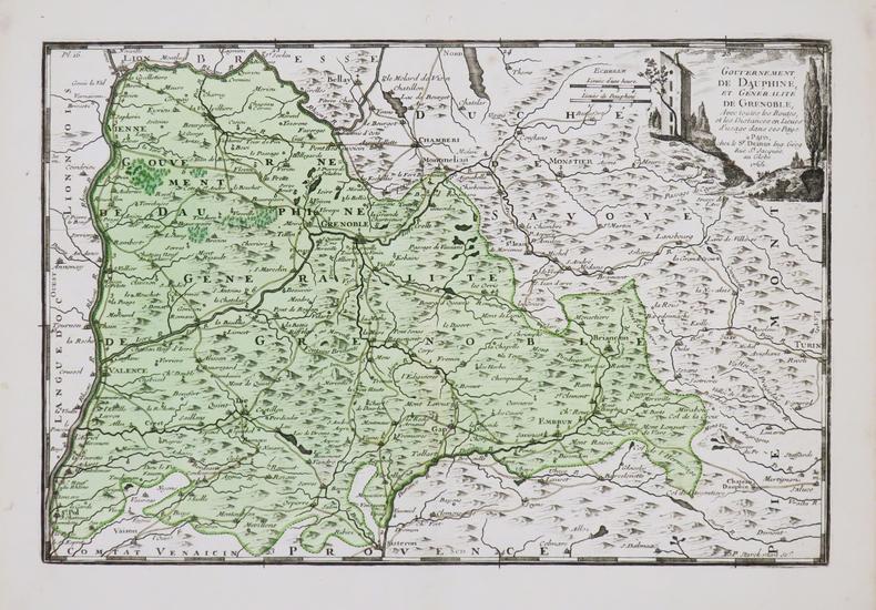 [DAUPHINÉ] Gouvernement de Dauphiné, et généralité de Grenoble.. DESNOS (Louis-Charles).