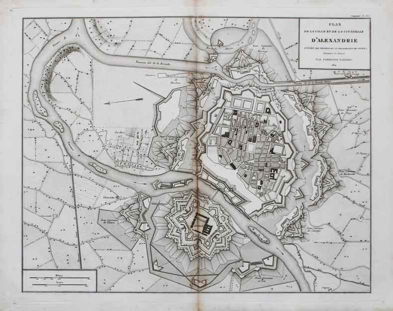 [ALEXANDRIE] Plan de la ville et de la citadelle d'Alexandrie d'après les projets du G.al Chasseloup de Laubat.. TARDIEU (Ambroise).