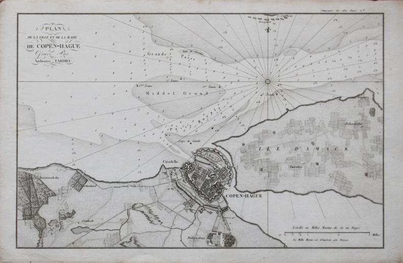 [DANEMARK/COPENHAGUE] Plan de la ville et de la rade de Copen-Hague.. TARDIEU (Ambroise).
