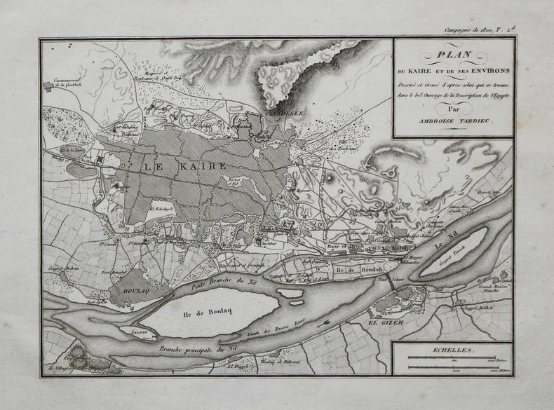 [LE CAIRE] Plan du Kaire et de ses environs.. TARDIEU (Ambroise).