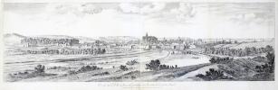 [METZ] Profil de la ville de Metz en Lorraine veue du costé de la porte Mazel.. SILVESTRE (Israël).