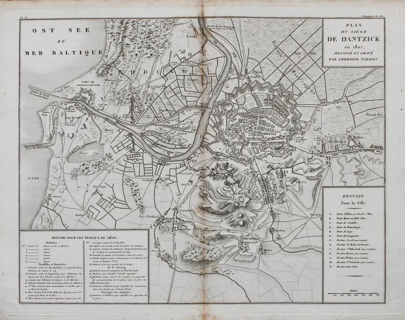 [GDANSK] Plan du siège de Dantzick en 1807.. TARDIEU (Ambroise).