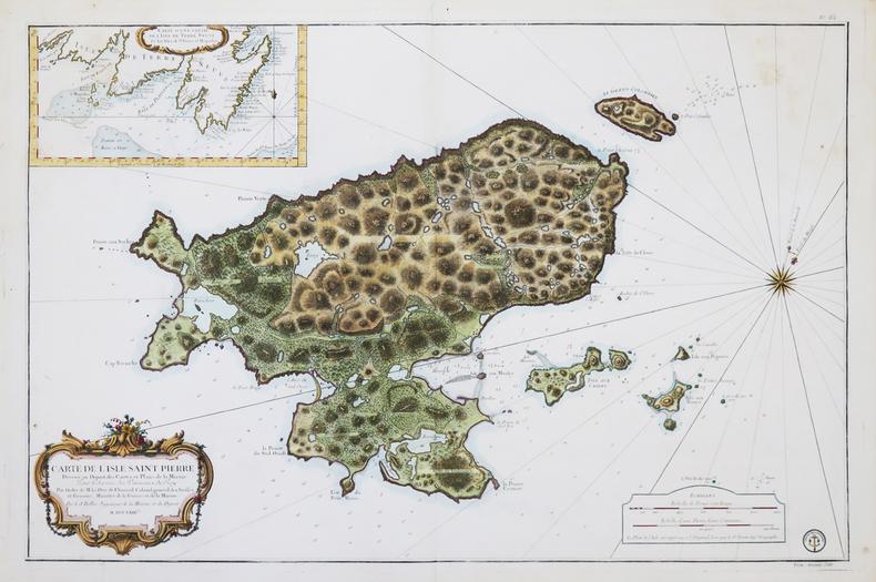 [SAINT-PIERRE-et-MIQUELON] Carte de l'isle Saint Pierre.. BELLIN (Jacques-Nicolas).