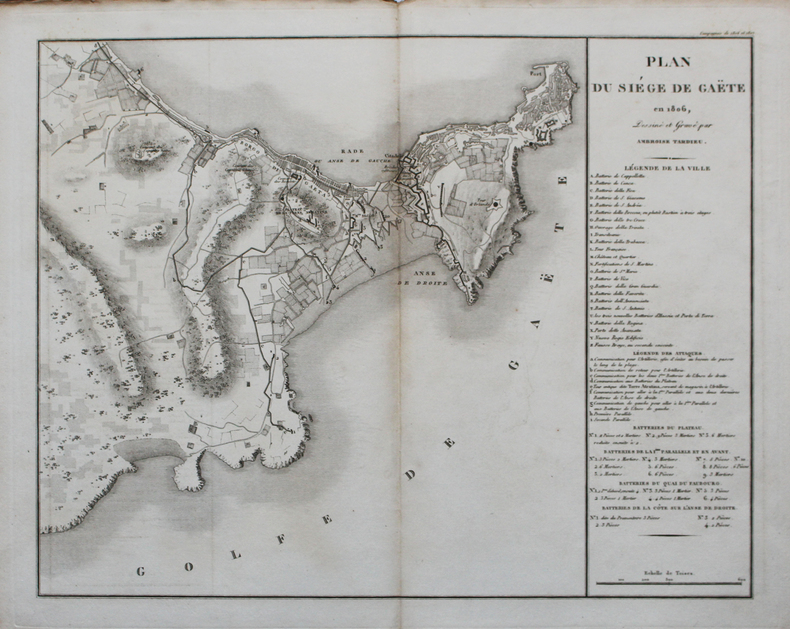 [GAETA] Plan du siège de Gaëte en 1806.. TARDIEU (Ambroise).