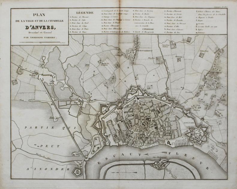 [ANVERS] Plan de la ville et de la citadelle d'Anvers.. TARDIEU (Ambroise).