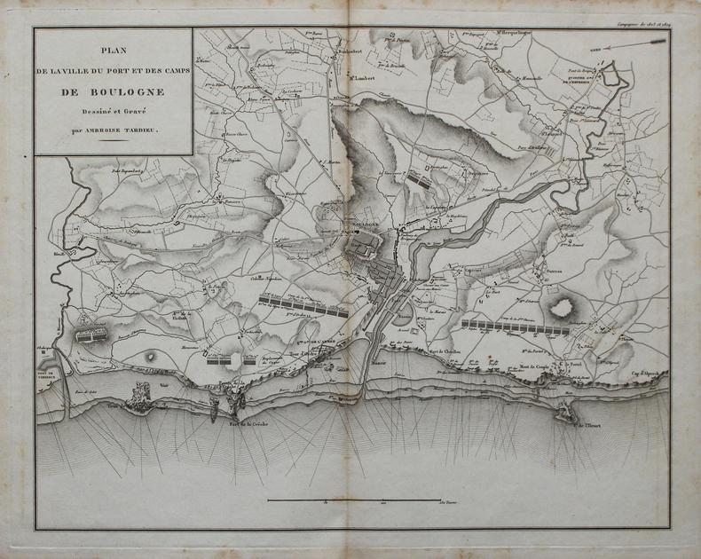 [BOULOGNE] Plan de la ville du port et des camps de Boulogne.. TARDIEU (Ambroise).