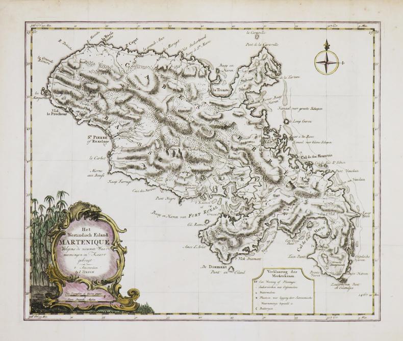 [MARTINIQUE] Het westindisch eiland Martenique.. TIRION (Isaak).
