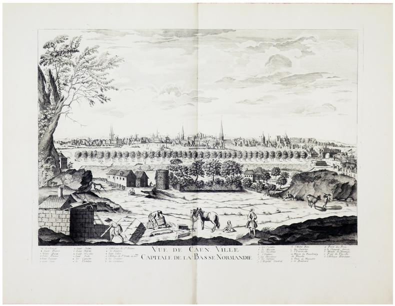 Vue de Caen, ville capitale de la Basse Normandie.. CHÉREAU (Jacques).