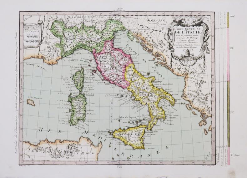 Carte générale de l'Italie.. PHILIPPE de PRETOT (Etienne-André).