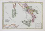 L'Italie méridionale, où se trouvent les neuf provinces du royaume de Naples, avec l'isle de Sicile, l'isle de Sardaigne royaume.. PHILIPPE de PRETOT ...
