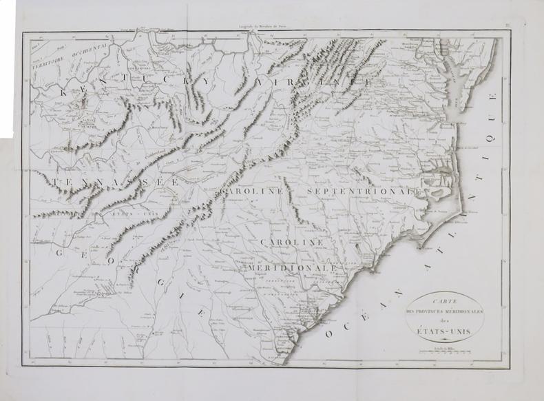 [GUERRE d'INDÉPENDANCE] Carte des provinces méridionales des États-Unis.. MARSHALL (John).
