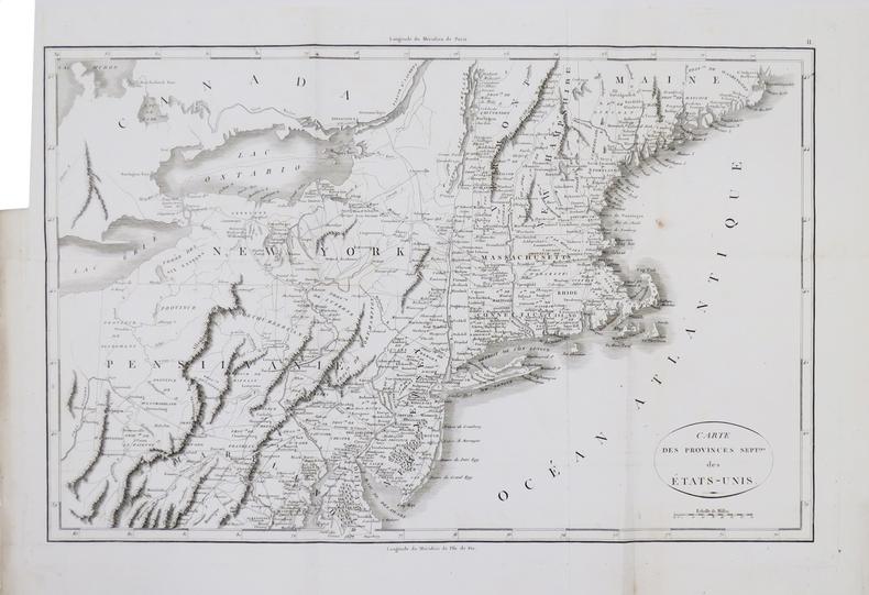[GUERRE d'INDÉPENDANCE] Carte des provinces sept.les des États-Unis.. MARSHALL (John).