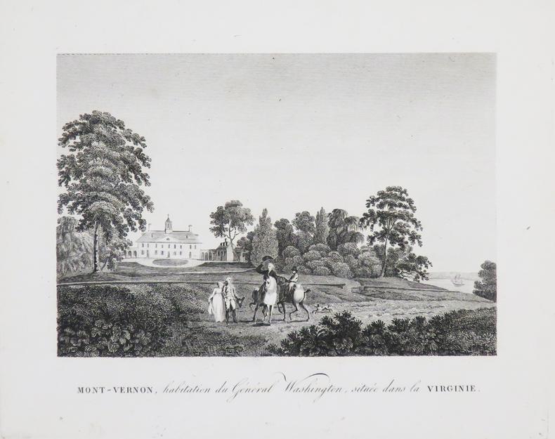 [GUERRE d'INDÉPENDANCE] Mont-Vernon, habitation du Général Washington, située dans la Virginie.. MARSHALL (John).